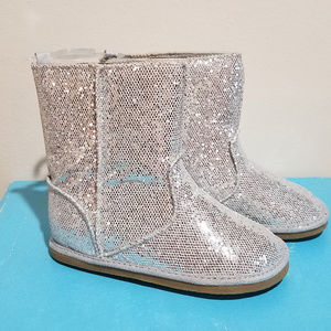 NEW Baby Deer Silver Ifant & Toddler Girls Boots